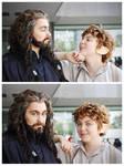 Bilbo and Thorin when nobody sees them xD by Miru-sama