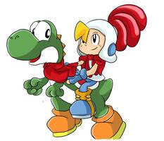 Billy with Yoshi by MuzYoshi
