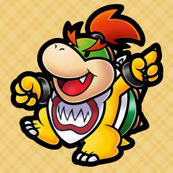 Bowser Jr. (Paper Mario TTYD Style) by MuzYoshi
