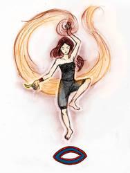 fire head girl by xjellyfishx