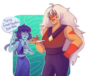 Jasper and Lapis by TrololhAnime