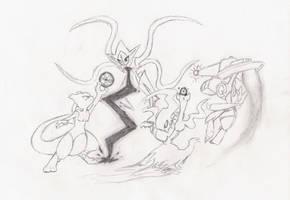 epic battle doodle by ClayPita