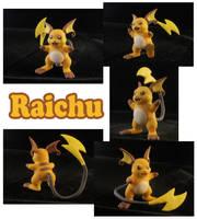 Raichu Sculpture: Collage by ClayPita