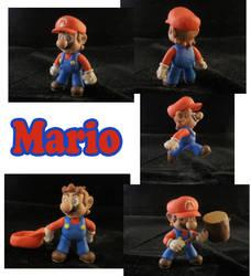 Mario Sculpture: Collage by ClayPita