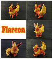 Flareon Sculpture: Collage by ClayPita