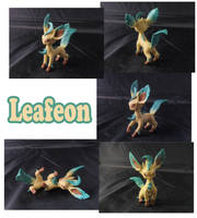 Weekly Sculpture: Leafeon by ClayPita
