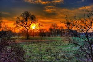 Framed sunrise by chevyhax