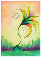RainBow Flower by Delfinoui