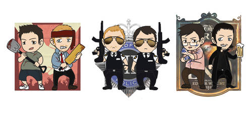 The Cornetto Trilogy by ClaudiAPH