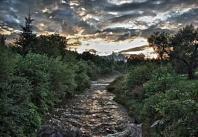 River from mountains HDR by minko2312