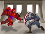 Baymax vs Cap by Gilliland35