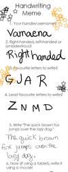 Handwriting meme by Vamaena