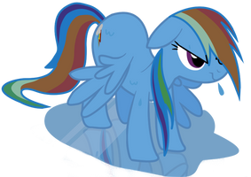 Wet Rainbow dash Complete by Jaelachan