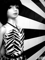 b+w and stripe all over by brokensymphony