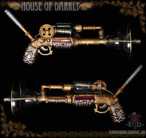 steampunk raygun prop by brokensymphony