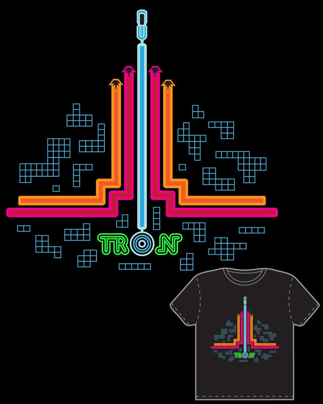 TRON: Neon Cycles shirt design by brokensymphony