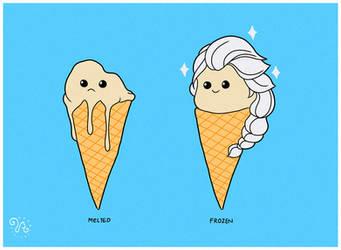 Frozen Ice Cream by rhobdesigns