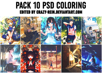 PACK 10 PSD COLORING by Crazy-Rein