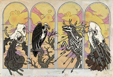 Horsemen of the Apocalypse by scumbugg