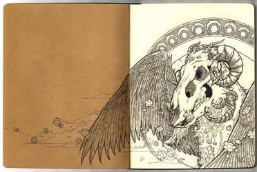 Angel of Death - Moleskine by scumbugg