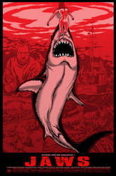 Jaws - Red Variant - Three Barrels Ltd. by scumbugg