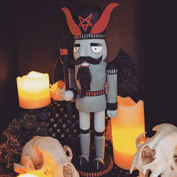 Baphomet Nutcracker by scumbugg