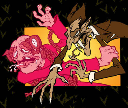 Count Chocula vs. Frankenberry by scumbugg