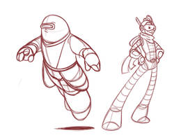 Alpha + Bravo [sketches] by StinaSketchbook