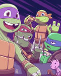 TMNT :: Say Cheese by StinaSketchbook