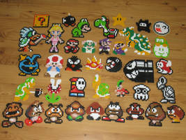 Mario Bead Sprites by gfroggy87