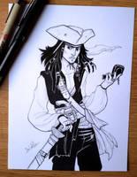 Inktober day 17 - Jack Sparrow by beacascabel