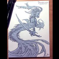 Warrior mermaid by beacascabel