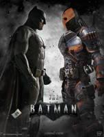 Batman / Deathstroke by Bryanzap