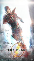 Ezra Miller The Flash Running V2 by Bryanzap
