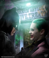 Batman / Joker by Bryanzap
