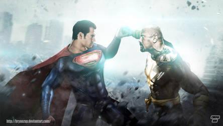 Superman Vs Black Adam by Bryanzap