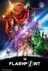 Flashpoint art based on the Infinity War Poster by Bryanzap