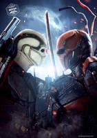 Deathstroke Vs Deadshot by Bryanzap