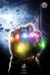 Avengers End Game Thanos Poster by Bryanzap
