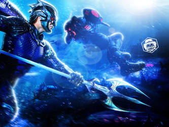 Ocean Master And Black Manta Art by Bryanzap