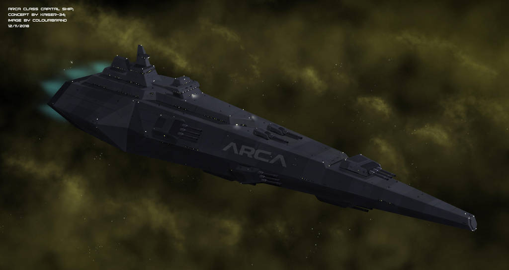 Commissioned: Arca Class Capital Ship by Colourbrand