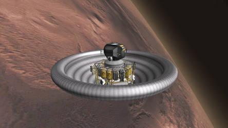 Mars Lander Incoming by francisdrakex
