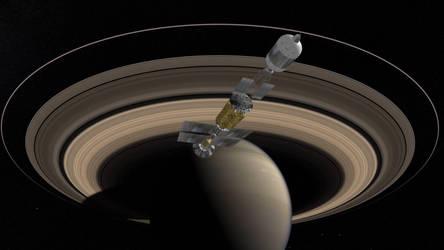 MTF-Ship at Saturn by francisdrakex