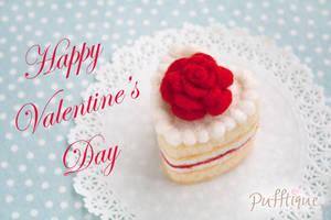 Rose Heart Cake by li-sa