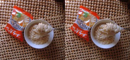 Stereograph - Sapporo Ichiban Noodles by alanbecker