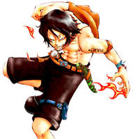 Portgad D. Ace on fire by WhiteHeartedSakura