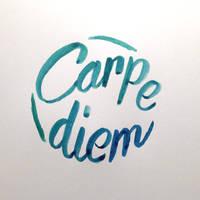 Carpe diem Calligraphy by pica-ae