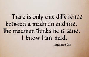 'I know I am mad' - Dali Quote by pica-ae