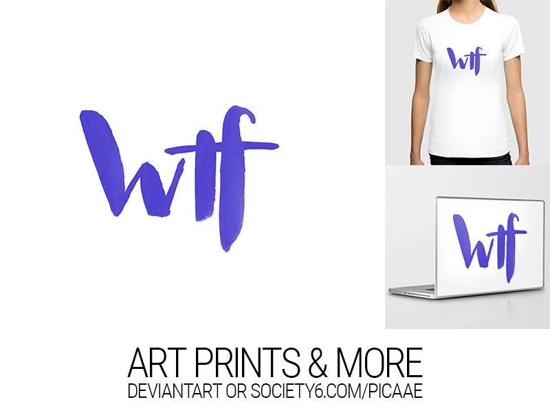 wtf II - Art Print by pica-ae