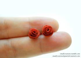 Rose Earrings by SmallCreationsByMel